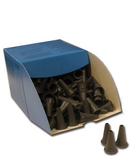 Øretuber til otoskop, engangs, 4mm (250 stk) grå farge