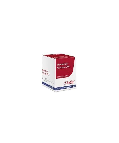 Kyvetter til HemoCue Glucose 201 RT blodsukkermåler (4 x 25 stk)