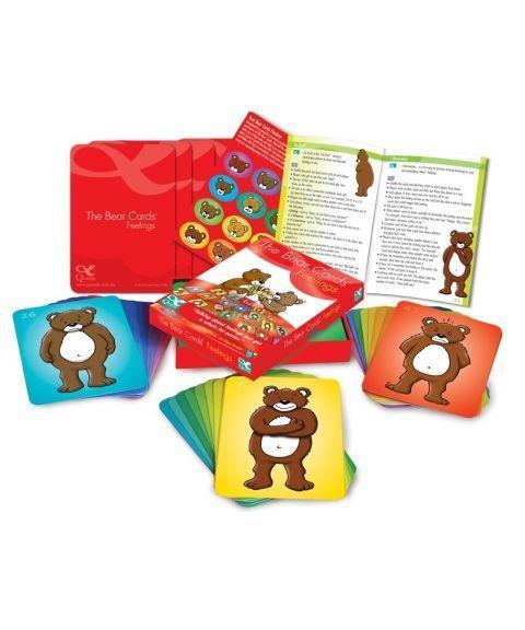 Bamsekort (The Bear Cards) med følelser og kroppsspråk (42  stk)