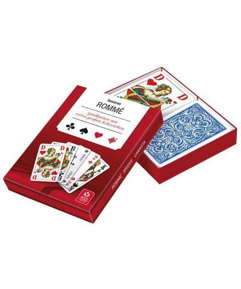 Kortstokk med ekstra store tegn (2 kortstokker)