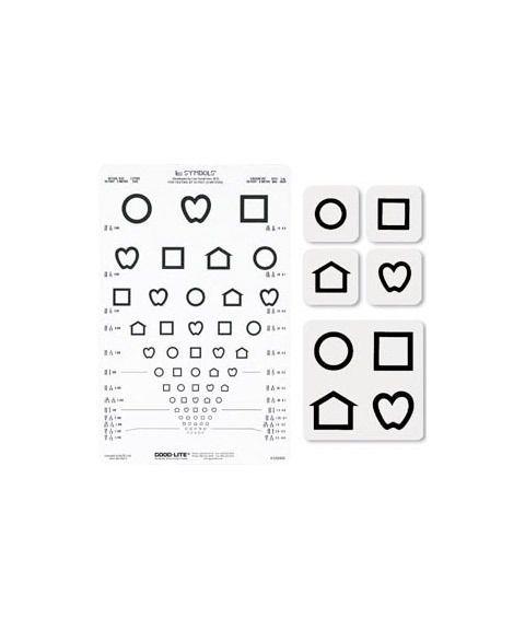 LEA symboltavle til lysboks, 13 linjer, førskolebarn